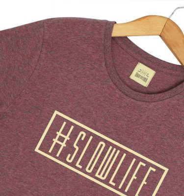 Camiseta orgánica #slowlife. Magnetotermia style. Ecofriendly