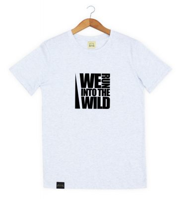 Magnetotermia Style. Camiseta orgánica ecofriendly We Run in to the wild. Eco responsables.