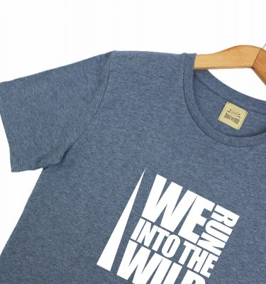 Magnetotermia Style. Camiseta orgánica ecofriendly We Run in to the wild. Eco responsables.